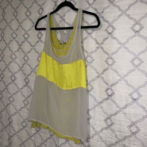 Yellow Chiffon Tank Top